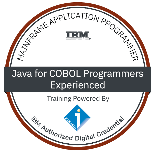 Interskill – IBM Mainframe Application Programmer – Java for COBOL Programmers - Experienced