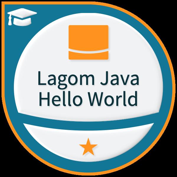 Lightbend Lagom for Java Hello World - Level 1