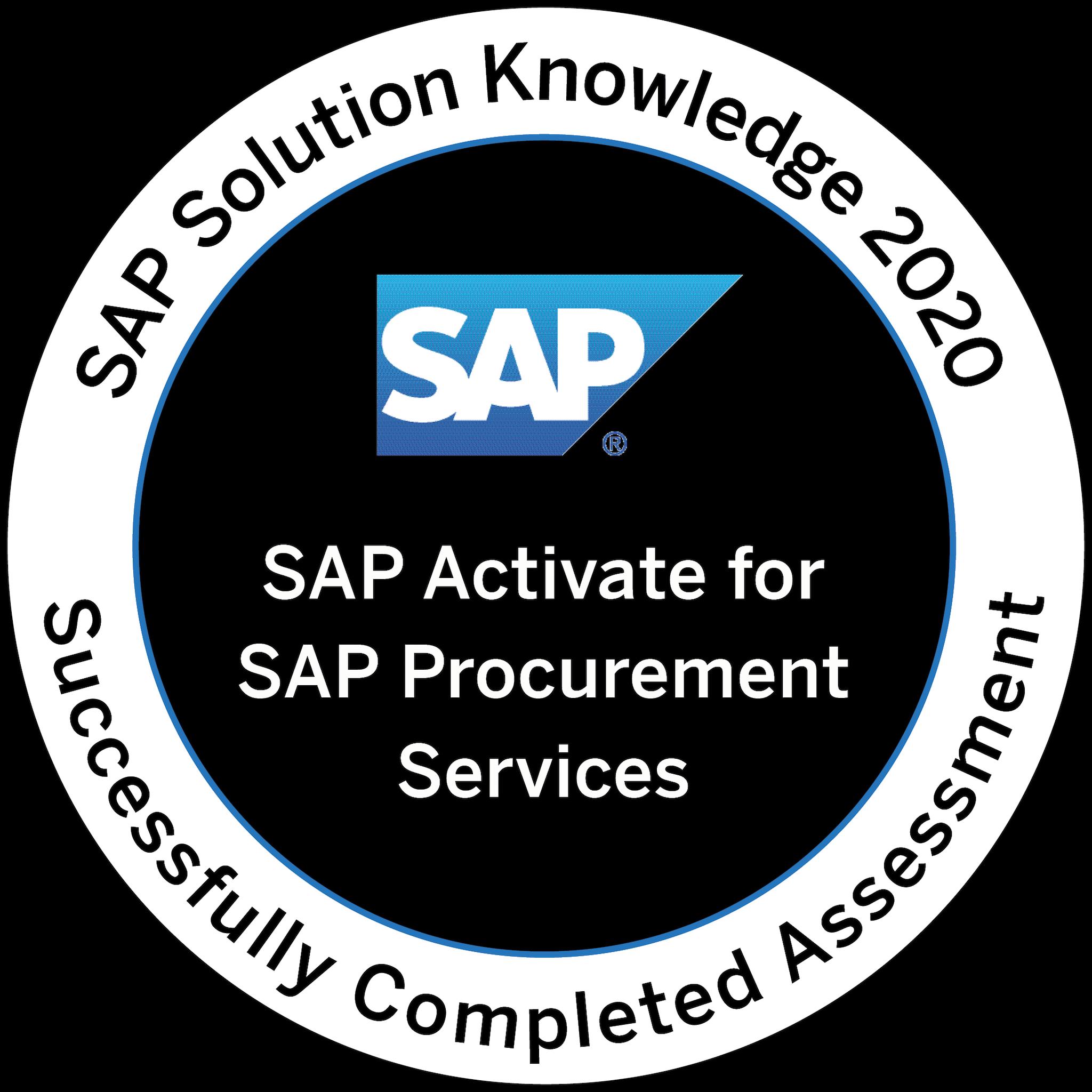 SAP Solution Knowledge 2020 - SAP Activate for SAP Procurement Services