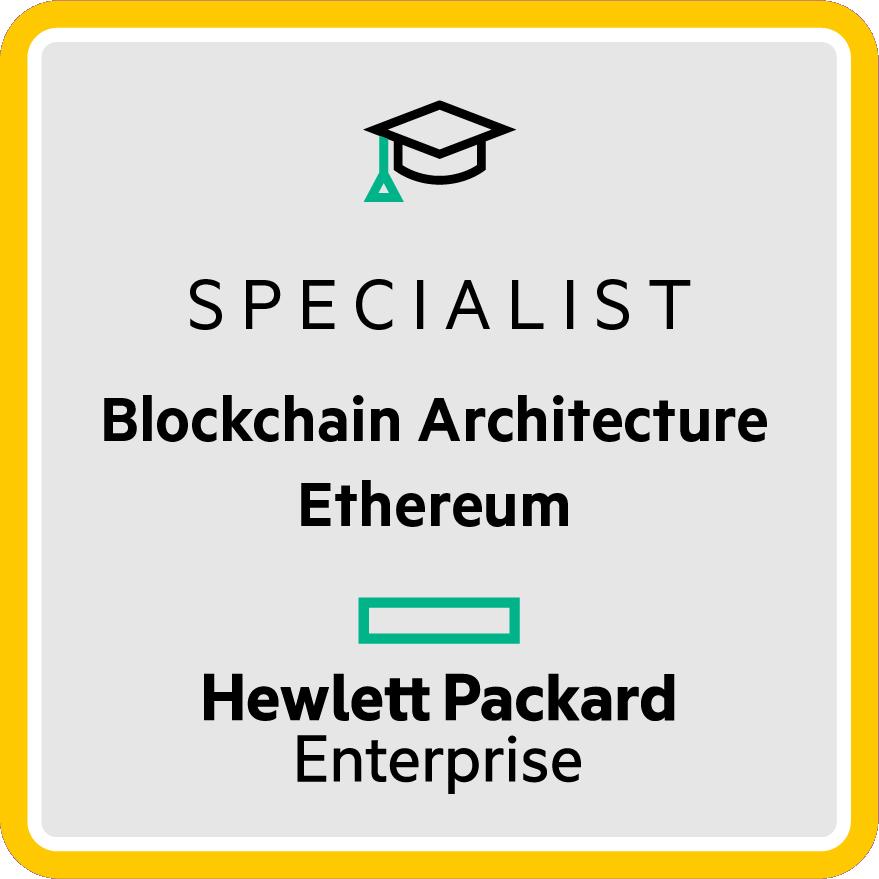 HPE Specialist - Blockchain Architecture Ethereum