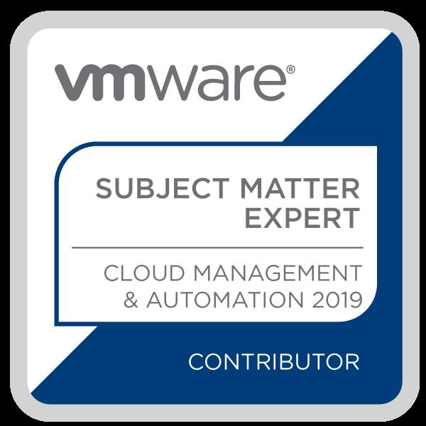 Certification Subject Matter Expert - Cloud Management and Automation 2019