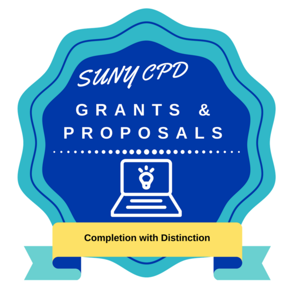 Grants & Proposals Completion with Distinction