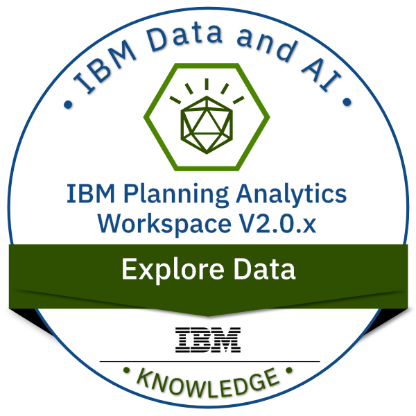 IBM Planning Analytics Workspace V2.0.x Explore Data