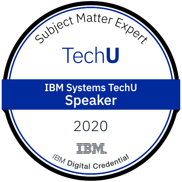 2020 IBM Systems TechU Speaker