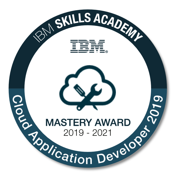 Cloud Application Developer 2019 - Mastery Award