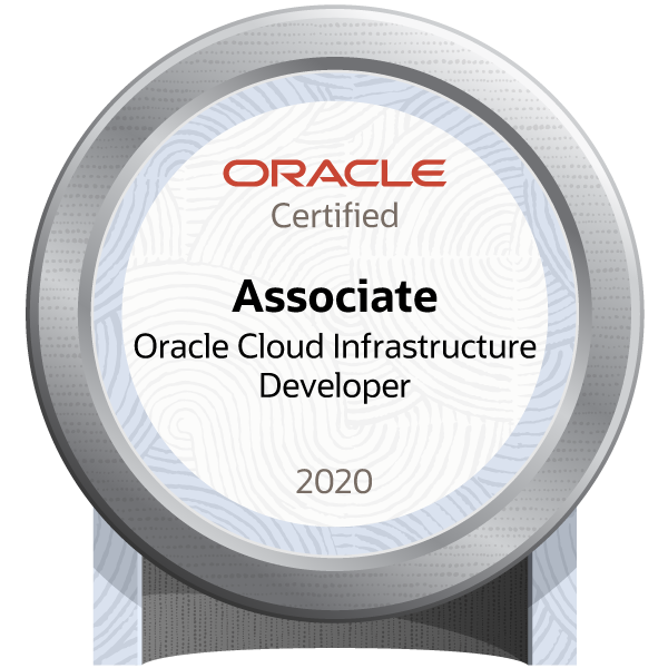 Oracle Cloud Infrastructure Developer 2020 Certified Associate