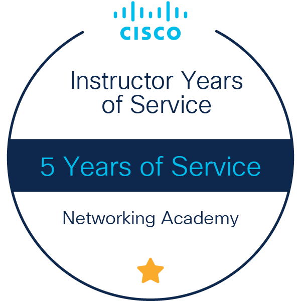 Instructor 5 Years of Service