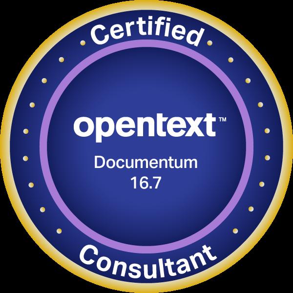 OpenText Certified Consultant - Documentum 16.7