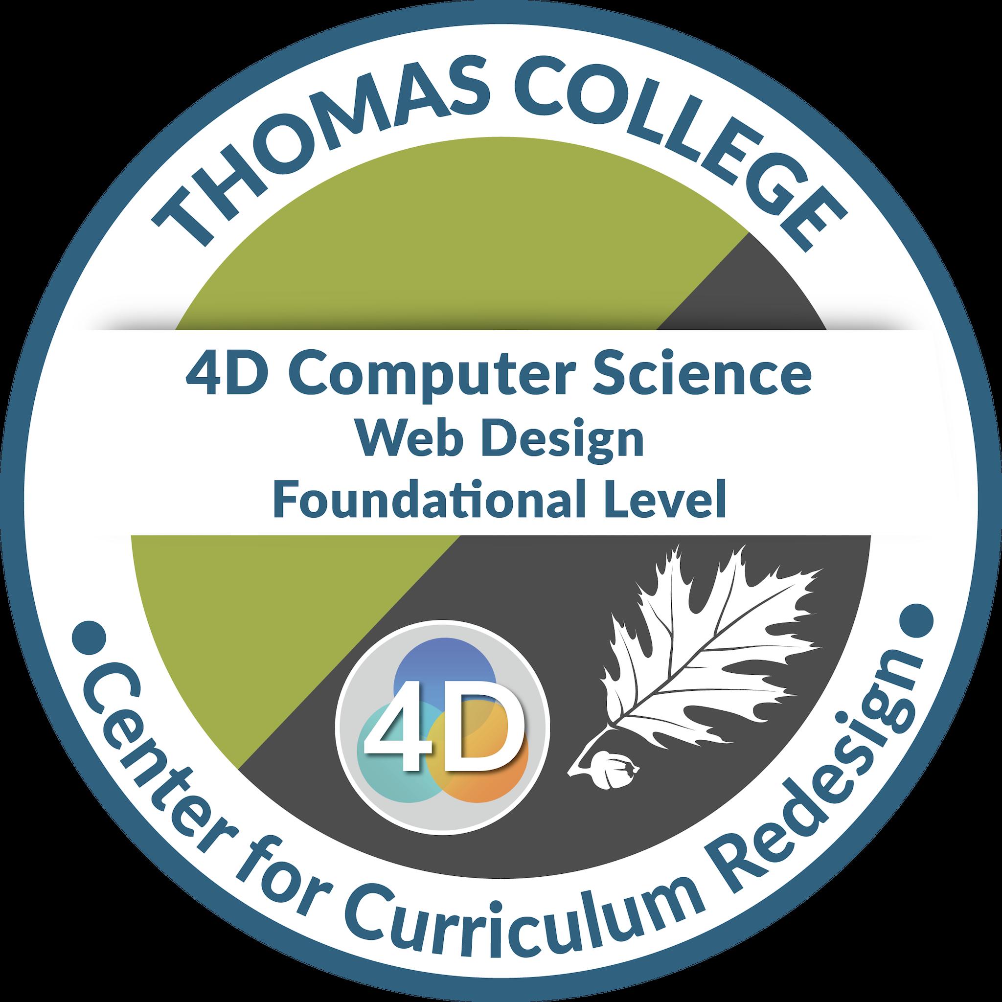 4D Computer Science: Web Design