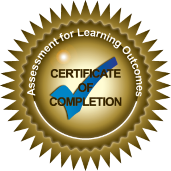 Assessment of Learning Outcomes Certificate