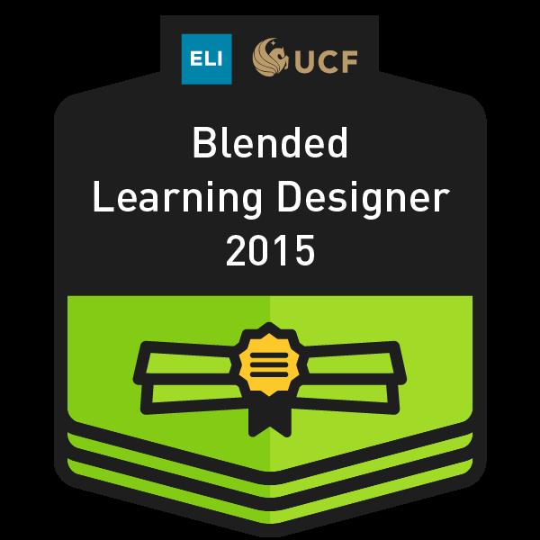 UCF/EDUCAUSE Certified Blended Learning Designer
