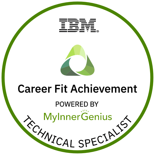 Technical Specialist Career Fit Achievement