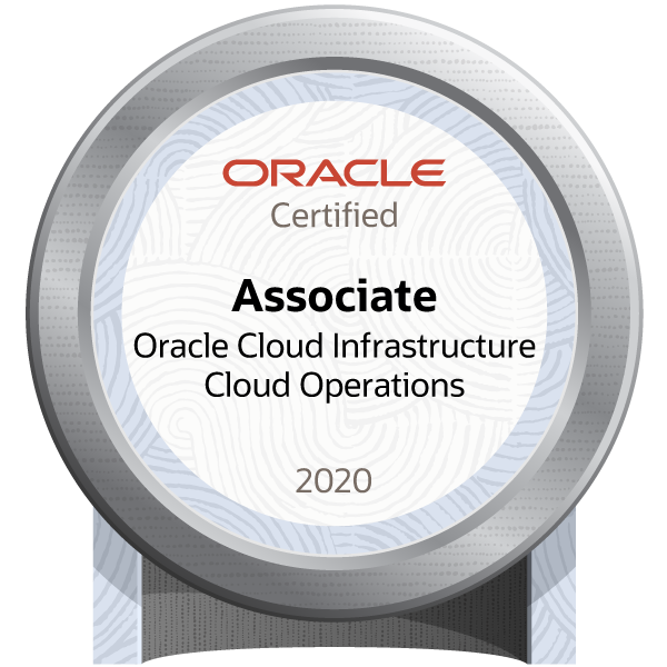 Oracle Cloud Infrastructure 2020 Certified Cloud Operations Associate