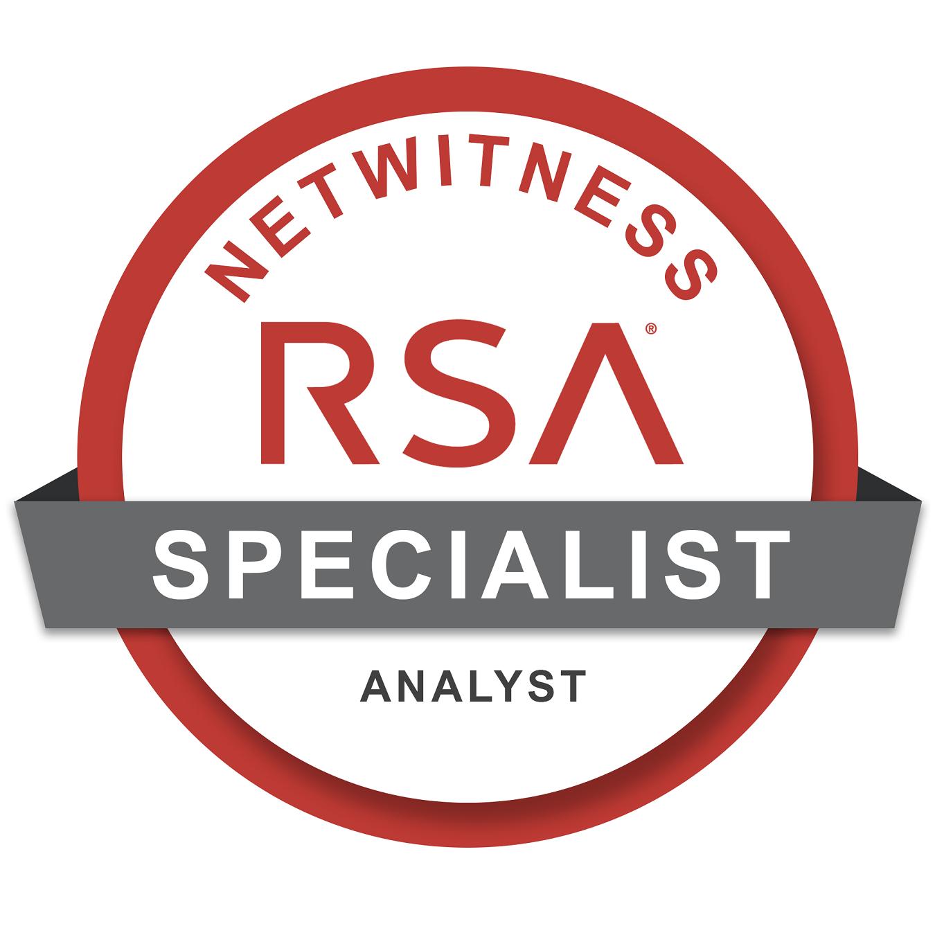 NetWitness Certified Specialist - Analyst