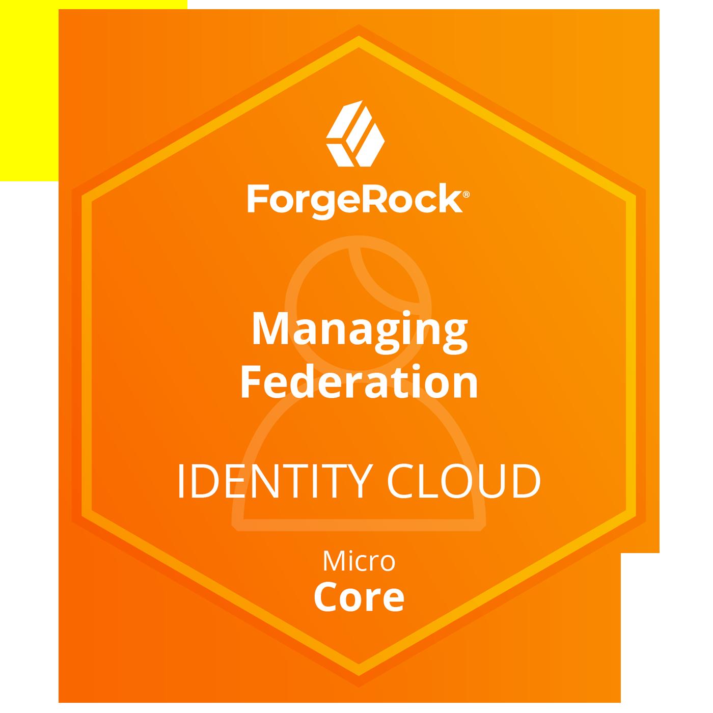 ForgeRock Identity Cloud Micro Core Skills - Managing Federation