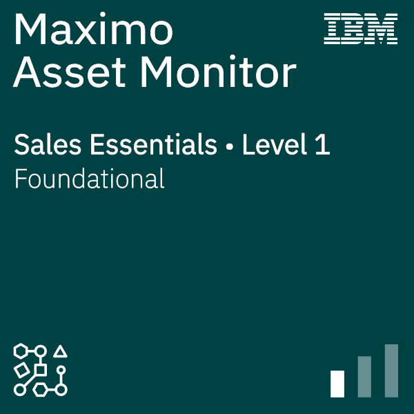 Maximo Asset Monitor Sales Foundation - Level 1