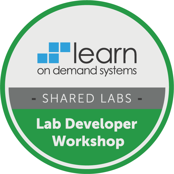 Lab Developer Workshop - Shared Labs