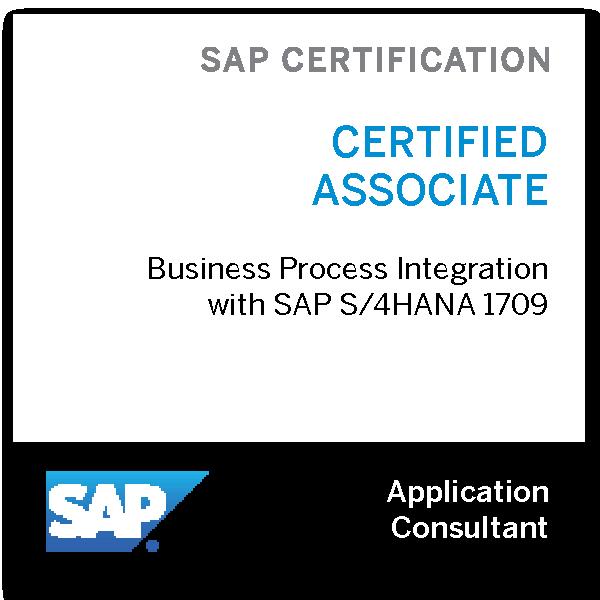 SAP Certified Application Associate - Business Process Integration with SAP S/4HANA 1709