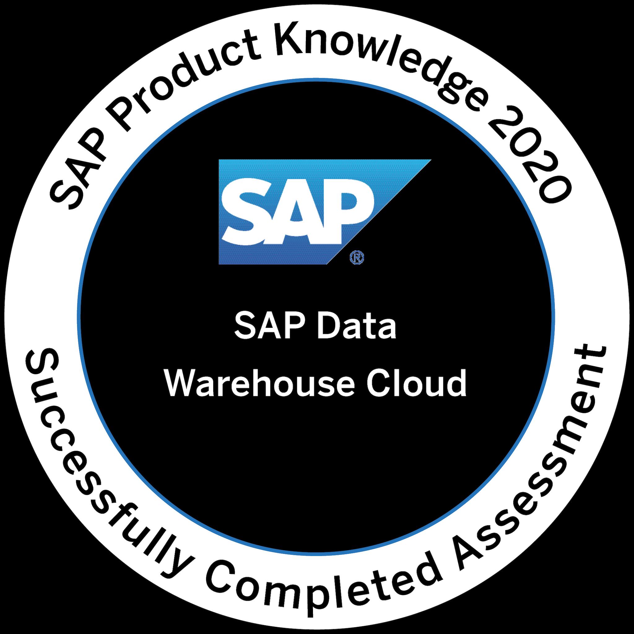 SAP Product Knowledge 2020 - SAP Data Warehouse Cloud