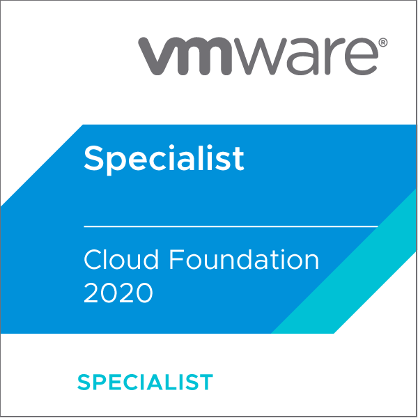 VMware Certified Specialist - Cloud Foundation 2020