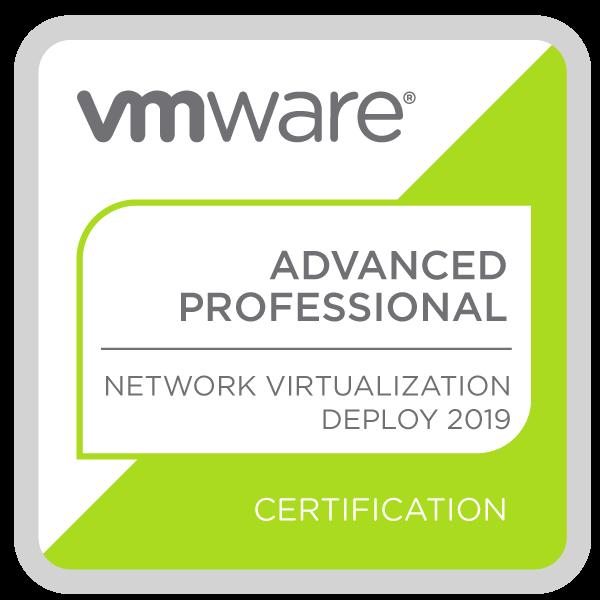 VMware Certified Advanced Professional - Network Virtualization Deployment 2019