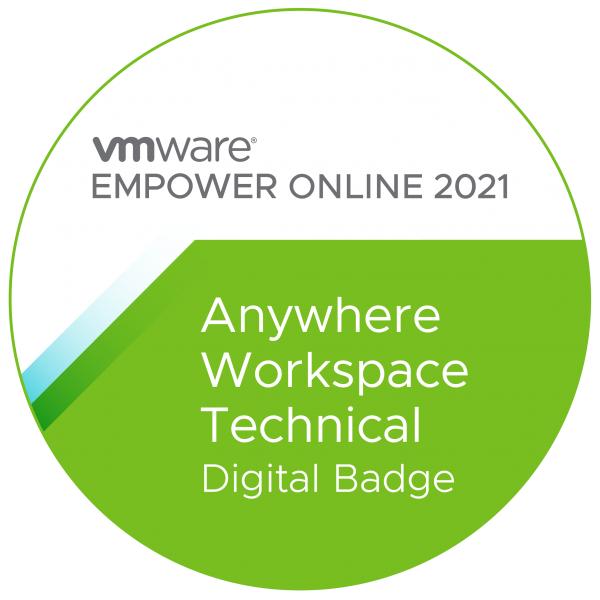 VMware Anywhere Workspace Technical Digital Badge