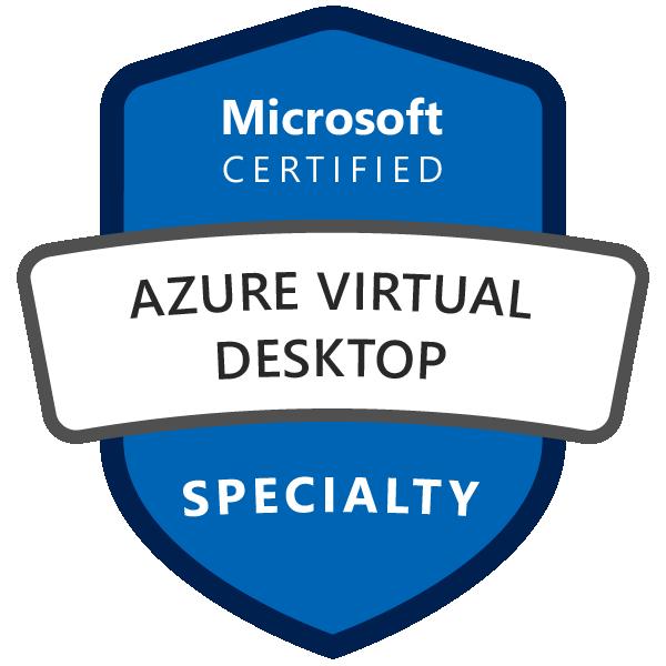 Microsoft Certified: Azure Virtual Desktop Specialty