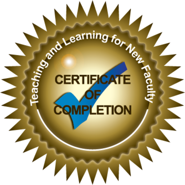 Teaching and Learning Certificate for New Faculty