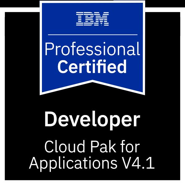 IBM Certified Developer - Cloud Pak for Applications v4.1