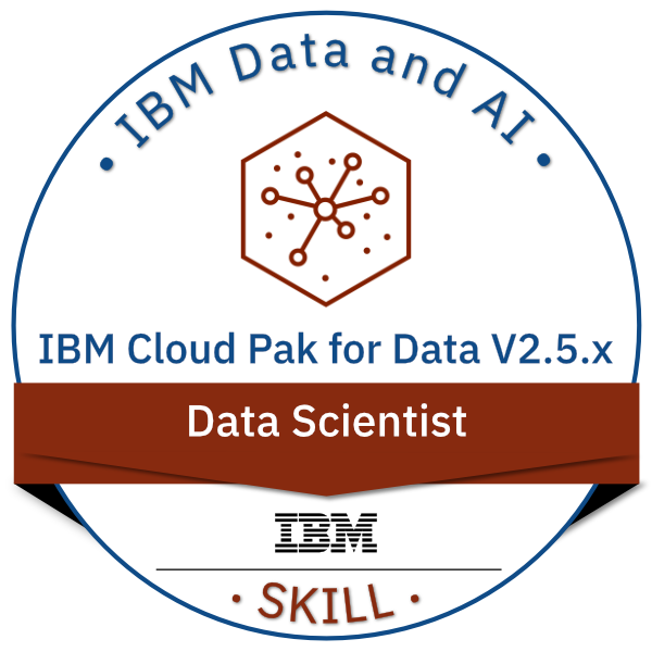 IBM Cloud Pak for Data V2.5.x Data Scientist