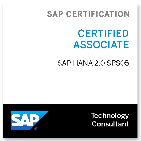 SAP Certified Technology Associate - SAP HANA 2.0 SPS05