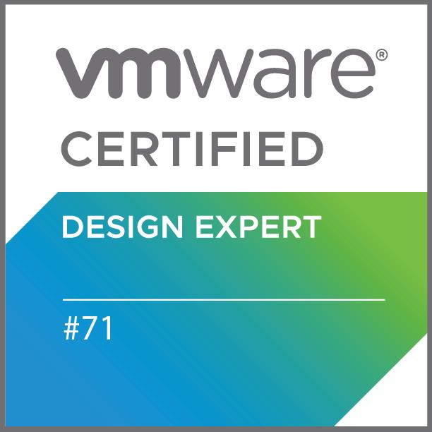 VMware Certified Design Expert #71