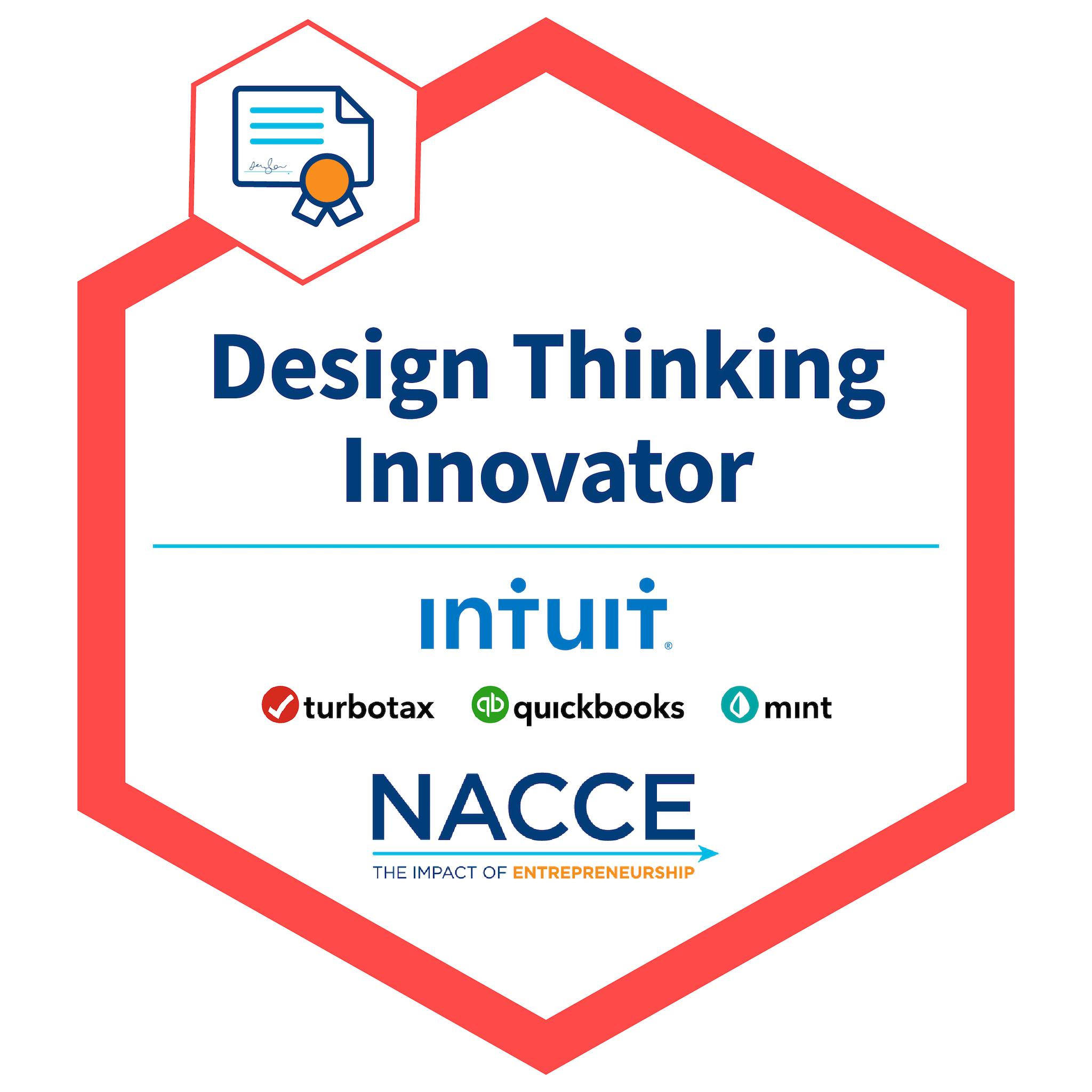 Intuit Design Thinking Innovator