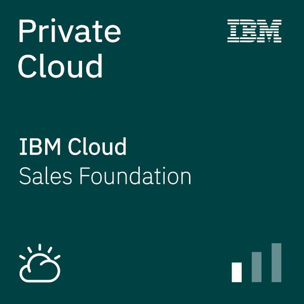 Private Cloud Sales Foundation