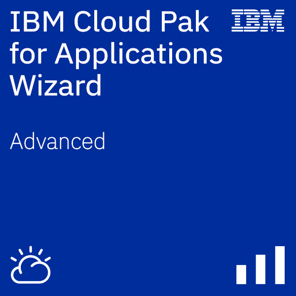 IBM Cloud Pak for Applications Wizard