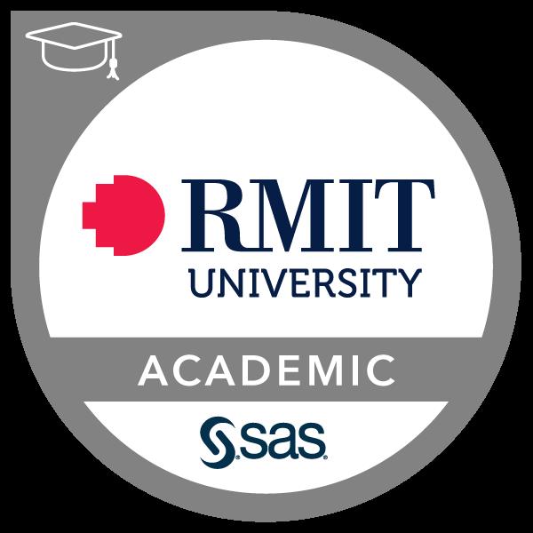 SAS - RMIT Academic Specialization in Analytics