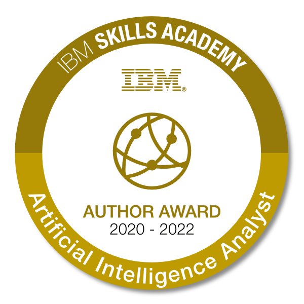 Artificial Intelligence Analyst 2020 - Author Award