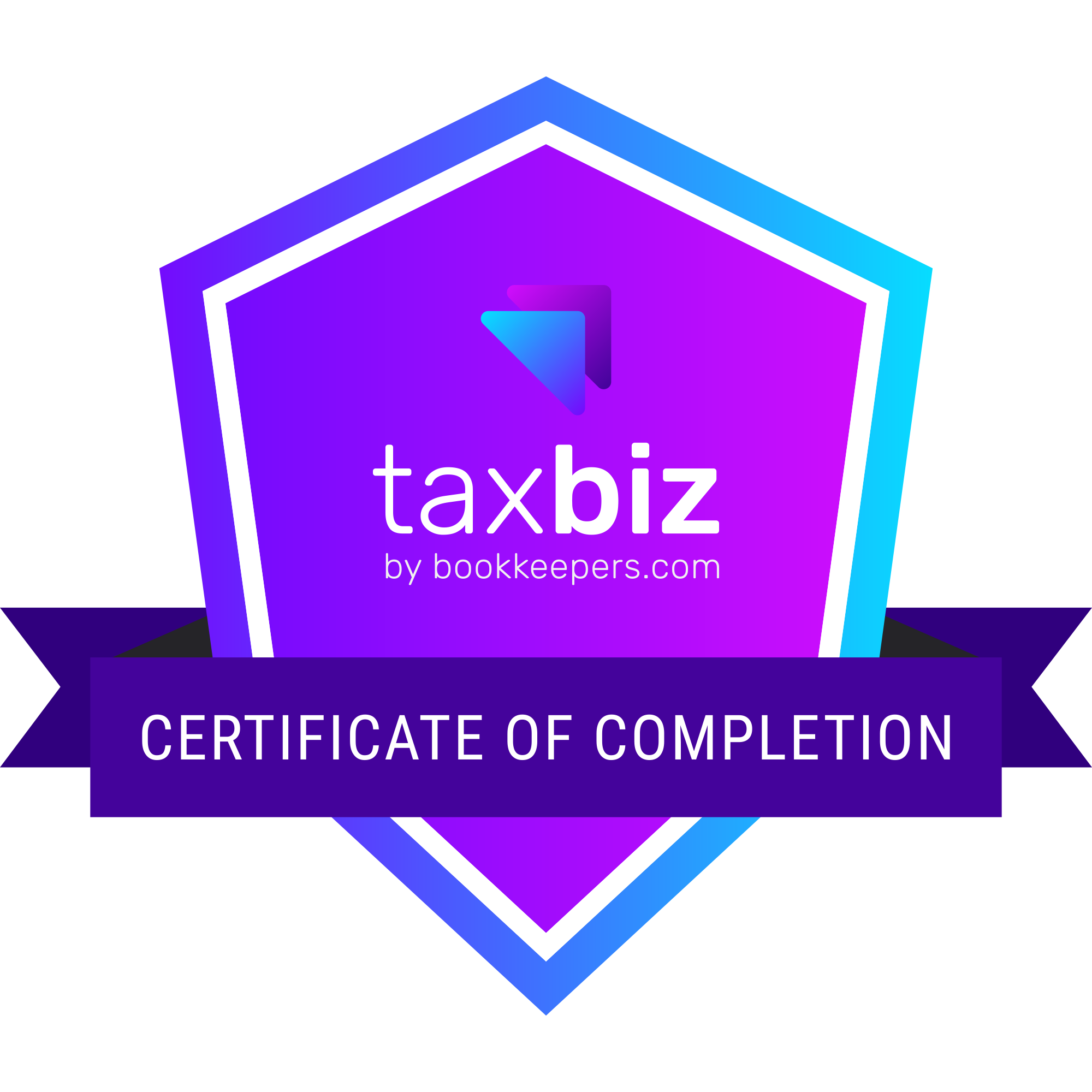 TaxBiz Certificate of Completion