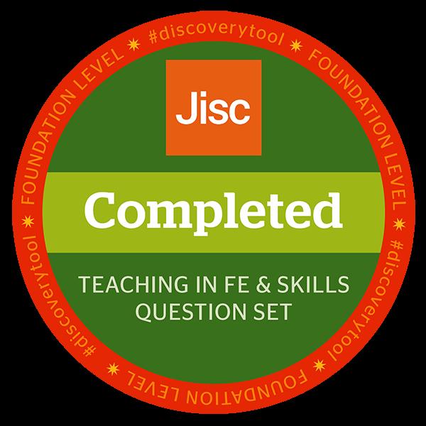Jisc discovery tool - Teaching in FE & Skills