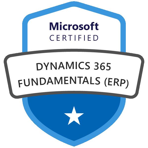 Microsoft Certified: Dynamics 365 Fundamentals (ERP)