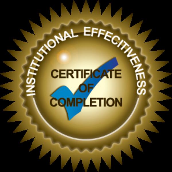 Institutional Effectiveness Certificate Program Completion
