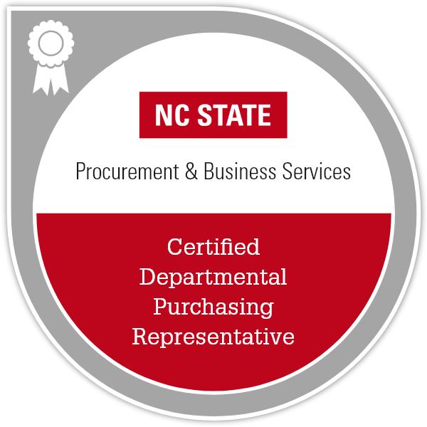 Certified Departmental Purchasing Representative Badge