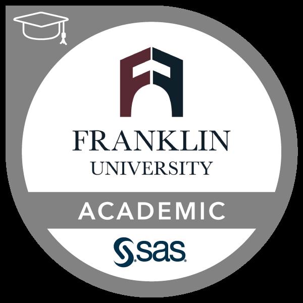 SAS - Franklin University Academic Specialization in Data Analytics