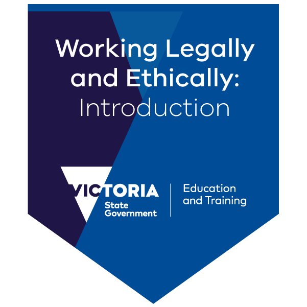 Introduction to working legally and ethically