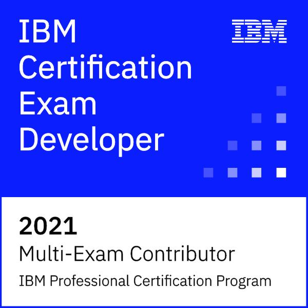 IBM Certification Exam Developer 2021 - Multi-Exam Contributor