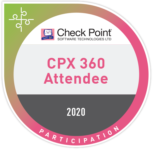 Check Point Experience (CPX 360) 2020 Attendee