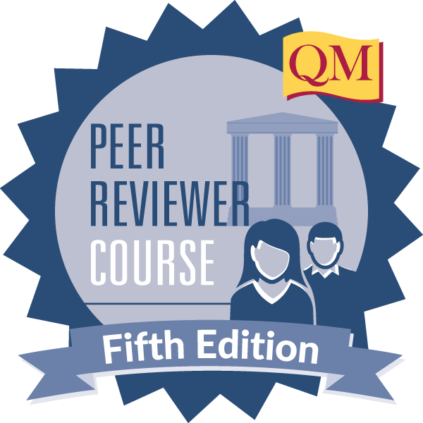 Peer Reviewer Course