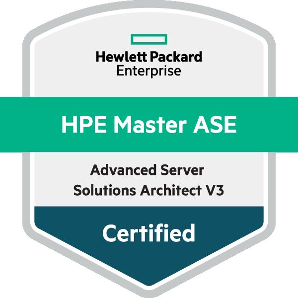 HPE Master ASE - Advanced Server Solutions Architect V3