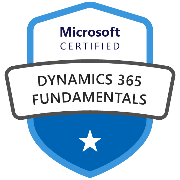 Microsoft Certified: Dynamics 365 Fundamentals