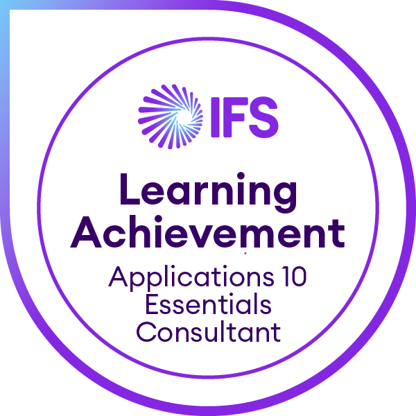 IFS Learning Achievement - IFS Applications 10 Essentials for Consultants